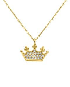 Dije De Oro Amarillo Con Cadena 14k Con Zirconias