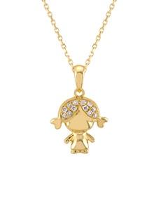 Dije de Niña En Oro Amarillo con 3 Pts de Diamante
