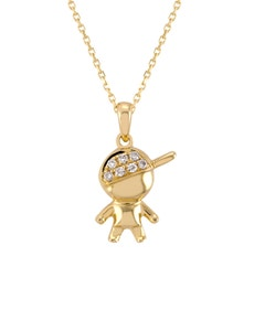 Dije de Niño En Oro Amarillo con 5 Pts de Diamante