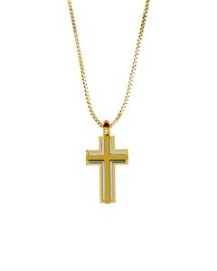 Crucifijo Sin Cadena Oro Bicolor