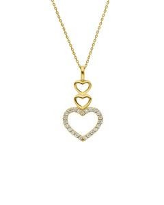 Dije con Cadena de Oro Amarillo 14K con 15 Pts de Diamante