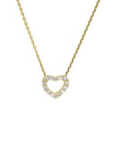 Dije con Cadena de Oro Amarillo 14K con 7 Pts de Diamante