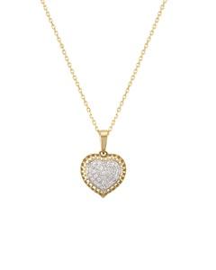 Dije de Corazon En Oro Blanco y Amarillo con 17 Pts de Diamante