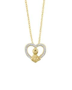 Dije de Oro Amarillo con 8 Pts de Diamante