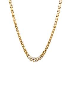 Gargantilla de Oro Amarillo de 45 Cm con 30 Pts Diamante