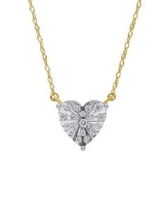 Gargantilla de Oro Amarillo y Blanco 14K con 10 Pts de Diamante (G-H) (Vs1-Vs2)