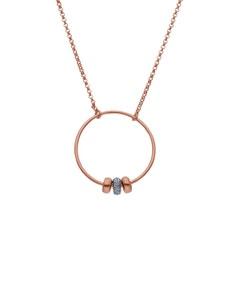 Gargantilla de Oro Rosa y Blanco 14K con 7 Pts de Diamante (G-H, S-I)