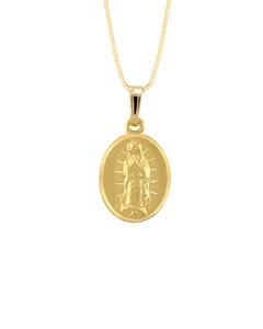 Medalla Imagen Virgen de Guadalupe En Oro Amarillo