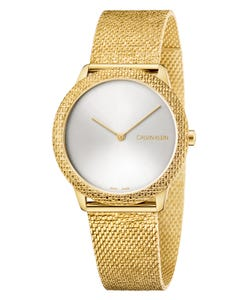 Reloj Calvin Klein Minimal Brazalete Mesh Texturizado para Dama