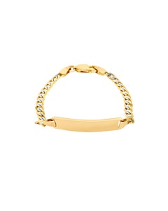 Esclava de Oro Amarillo con Diamantado Platinado 12 Cms