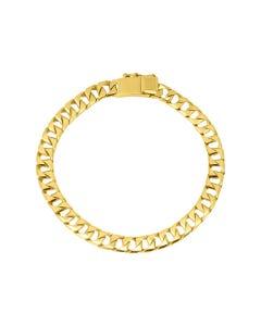 Pulsera Ellegance  De Oro Amarillo 20cm