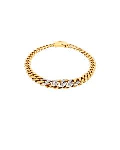 Pulsera de Oro Amarillo de 18 Cm con 20 Pts Diamante
