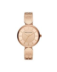 Reloj Armani Exchange para Dama Extensible Acero Oro Rosado Caratula Oro Rosado Analogo