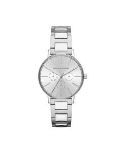 Reloj Armani Exchange para Dama,Extensible Acero Plata,Caratula Plata,Analogo
