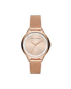 Reloj Armani Exchange para Dama,Extensible Acero Oro Rosado,Caratula Oro Rosado,Analogo