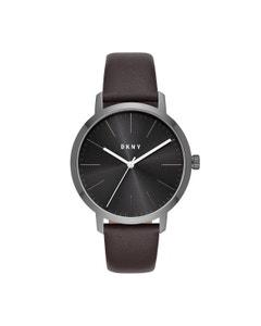 Reloj Dkny para Caballero Correa Piel Cafe Caratula Negro Analogo