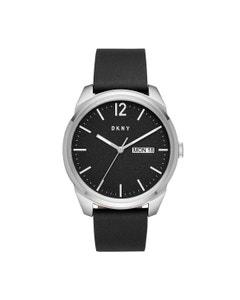 Reloj Dkny para Caballero Correa Piel Negro Caratula Negro Analogo