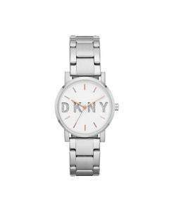 Reloj Dkny para Dama,Extensible Acero Plata,Caratula Blanco,Analogo