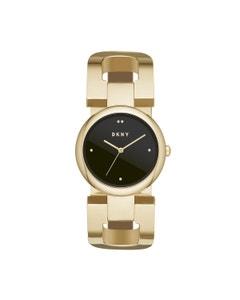 Reloj Dkny Extensible Acero Dorado Caratula Negro Analogo para Dama
