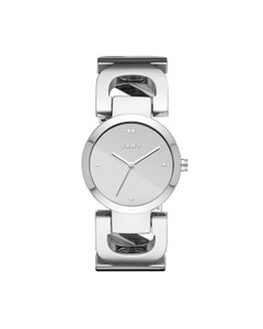 Reloj Dkny para Dama Extensible Acero Plata Caratula Plata Analogo