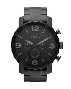 Reloj Fossil Nate Chronograph Black Stainless Steel para Caballero