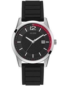 Reloj Guess Perry Negro con Bisel Plata para Caballero