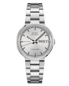 Reloj Mido Commander Ii Caratula Plata para Dama