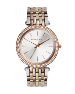 Reloj Michael Kors Darci Silver Dial Tri-Tone para Dama