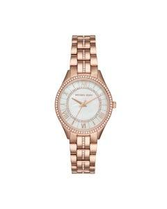 Reloj Michael Kors para Dama,Extensible Acero Oro Rosado,Caratula Madre Perla,Analogo