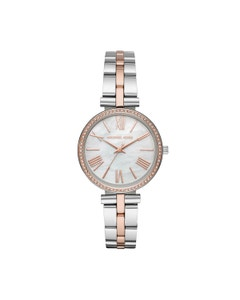 Reloj Michael Kors para Dama Extensible Acero Multicolor Caratula Blanco Analogo