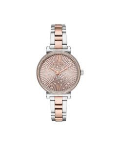Reloj Michael Kors para Dama Extensible Acero Multicolor Caratula Oro Rosado Analogo