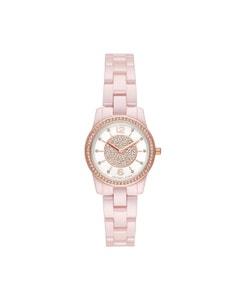 Reloj Michael Kors para Dama Extensible Ceramica Rosa Caratula Blanco Analogo
