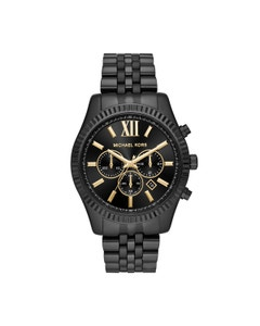 Reloj Michael Kors para Caballero,Extensible Acero Negro,Caratula Negro,Analogo