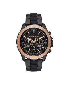 Reloj Michael Kors para Caballero Extensible Acero Negro Caratula Negro Analogo