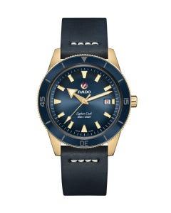 Reloj Rado Captain Cook Bronce Atm Piel Azl Cab 42mm 30bar
