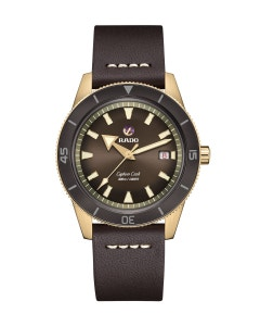 Reloj Rado Captain Cook Bronce Atm Piel Cfe Cab 42mm 30bar R32504306