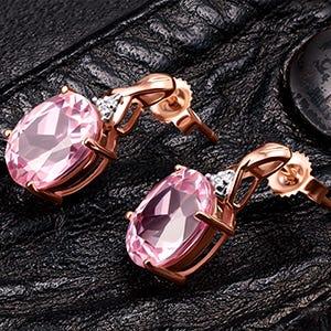 Aretes de oro rosa