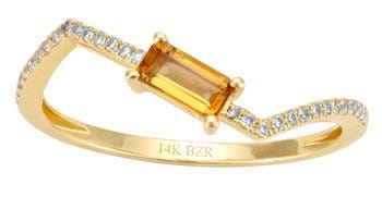 Anillo oro amarillo con diamantes