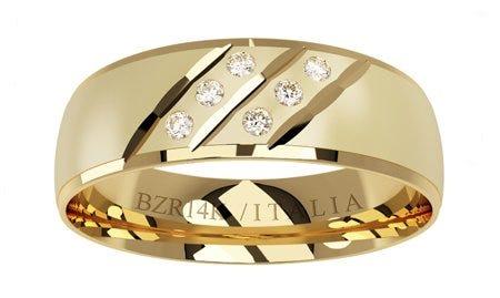 Argolla de oro amarillo con diamantes