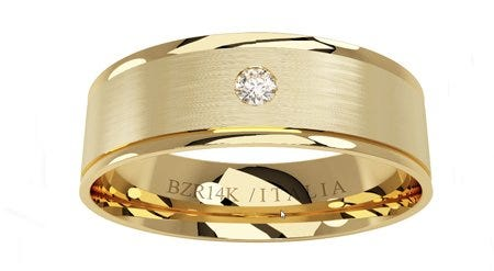 Argolla de oro amarillo con diamante