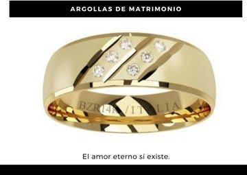 Argolla de matrimonio oro amarillo