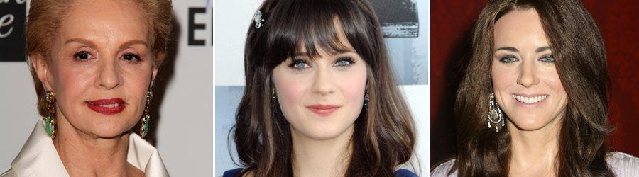 Carolina Herrera - Zooey Deschaner - Kate Middleton - Shutterstock