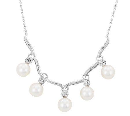 Collar de perlas en oro blanco