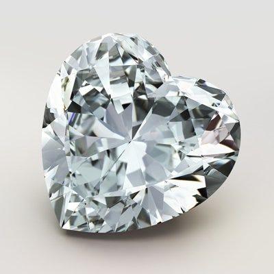 Diamante en forma de corazón