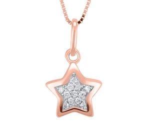 Dije de oro rosa en forma de estrella