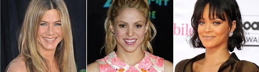 Jennifer Aniston - Shakira - Rihanna - Shutterstock