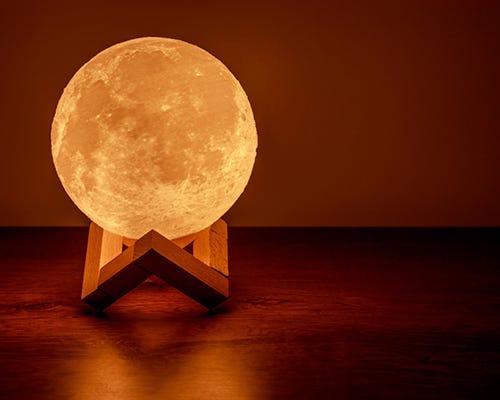 lámpara de luna