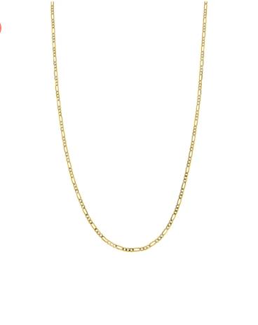 Dadena de oro amarillo con diamantado de 65 cm