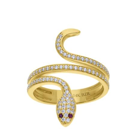 Anillo de oro serpiente