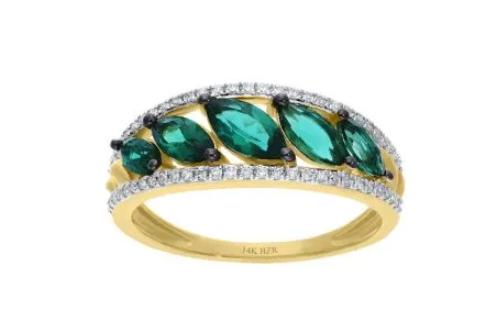 anillo con esmeraldas